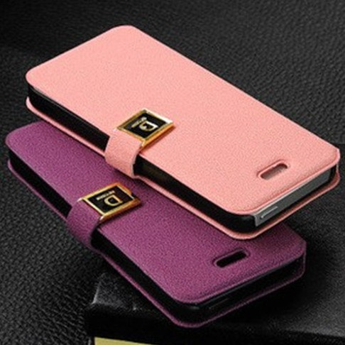 NEW Luxury Flip PU Leather Case Cover For iPhone5 5G D