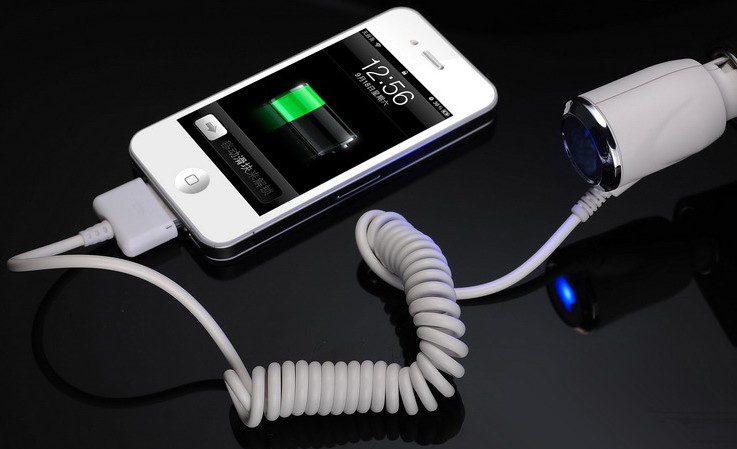 New White Car Charger For iPod touch 4 iPhone 2G 3G 3GS 4G 4S